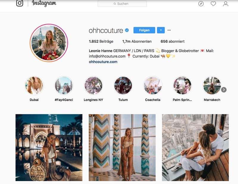 Ohhcouture – Mode auf Instagram